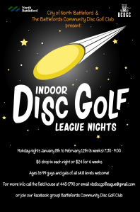Indoor Disc Golf League Poster 1 18