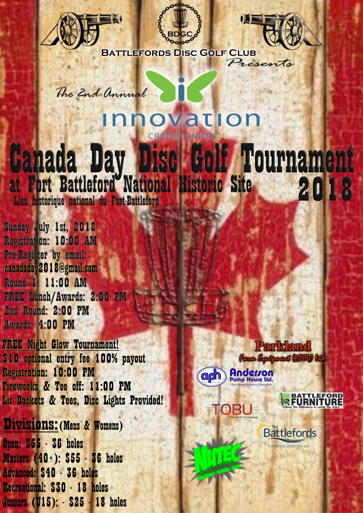 Canada Day Disc Golf Poster Prog2