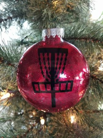 disc golf xmas ornament